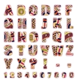 ABC letters with ethnic patterns vector image vector image