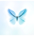 abstract butterfly futuristic in light background