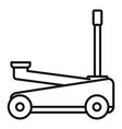 auto jack-screw icon outline style vector image vector image
