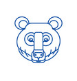 bear head line icon concept bear head flat vector image vector image
