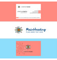 beautiful gear eye logo and business card vector image vector image
