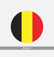 belgium round circle flag