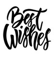 best wishes hand drawn lettering isolated on vector image vector image