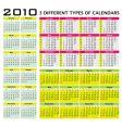 big set 2010 calendars vector image