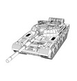 blueprint of realistic tank vector image vector image