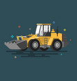 bulldozer flat cartoon style vector image