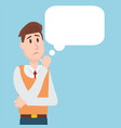 business people student thinking character design vector image