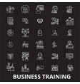 business training editable line icons set vector image vector image