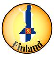Button Finland vector image