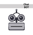 cartoon robot face smiling cute emotion neutral vector image