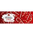 christmas sale horizontal banner template vector image vector image