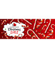 christmas sale horizontal banner template with vector image vector image