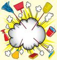 cleaning cloud vector image vector image