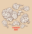 clouds and wind blows chinese style vector image