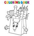 coloring book shopping bag theme 1 vector image vector image