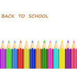concept back to school with white apper and vector image vector image