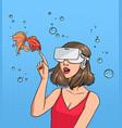 concept of virtual reality girl