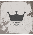 crown vintage abstract grunge background vector image vector image