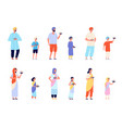 diwali characters happy asian people fun young vector image