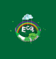 eco green city designcrescent vector image