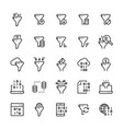 filter data icon set in line style vector image