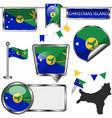 flags christmas island vector image vector image