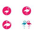 flamingo icon vector image vector image