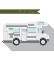 Flat design city Transportation RV for travel and vector image vector image