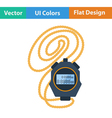 Flat design icon of stopwatch vector image vector image