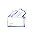 folder with documents file icon sheets of paper vector image