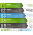 green arrows infographics vector image vector image