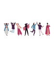 group young happy people standing together and vector image vector image