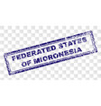 grunge federated states of micronesia rectangle vector image vector image