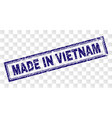 grunge made in vietnam rectangle stamp vector image vector image