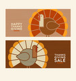 happy thanksgiving abstract turkeys vector image vector image