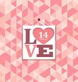 Happy valentines pink geometric greeting cards vector image vector image