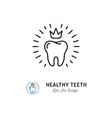 healthy teeth icon dental care logo concept vector image vector image