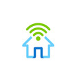 home secure wifi logo vector image