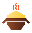 hot porridge flat icon bowl with food color icons vector image vector image