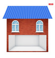 house with garage floor section and windows vector image