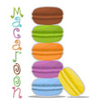 icon logo for pile colorful macarons vector image