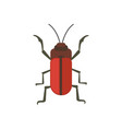 insect flat style design icon nature vector image vector image
