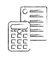 isolated calculator design vector image