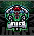 joker mask esport mascot logo design vector image