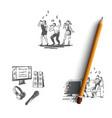 karaoke - songs and dances family duet vector image vector image