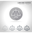Law and justice outline icon vector image