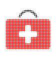 medical case halftone dotted icon vector image