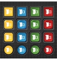 negative films icon symbol Set of colourful vector image vector image