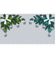 new year christmas green and blue christmas tree vector image