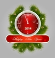 New Year decorative label vector image